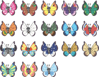 Vivillon Patterns Pokemon GolfClub Fascinating Vivillon Patterns